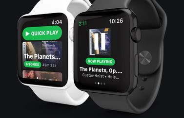 Spotty met Spotify op de Apple Watch.