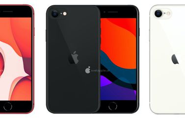 iPhone SE 2/iPhone 9 renders in kleuren.