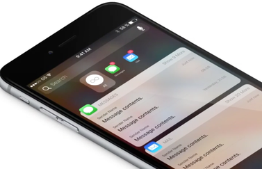 Notificaties concept op iPhone.
