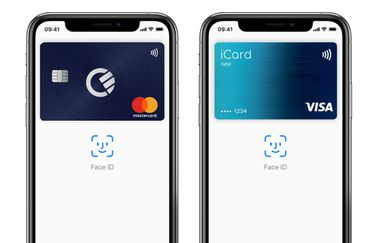 Curve en iCard in Apple Pay.