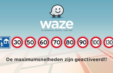 Maximumsnelheden in Waze.