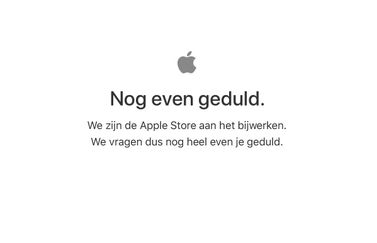 Apple Store offline in het Nederlands.
