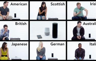 Siri, Google Home en Amazon Echo in accententest.
