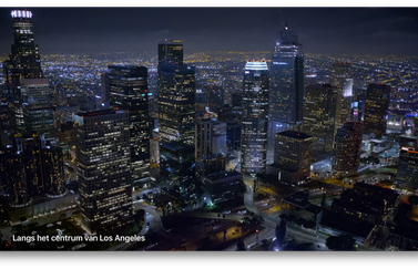 Apple TV screensaver van Los Angeles met naam.