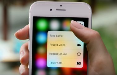 3D Touch in de Camera-app op iPhone 6s.