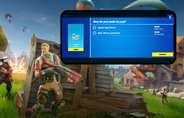 Fortnite in-app aankopen