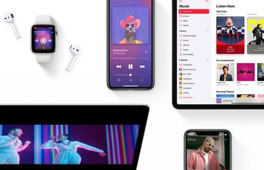 Apple apparaten met Apple Music.