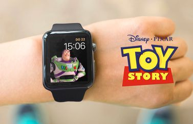 Toy Story met Buzz Lightyear op de Apple Watch.