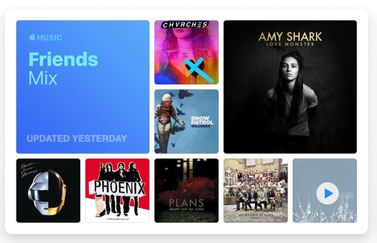 Apple Music Friends Mix.