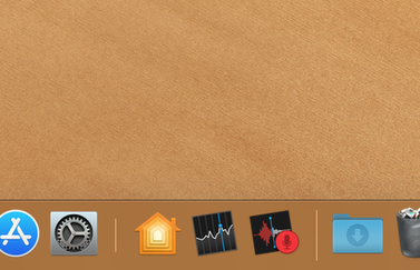 Recente apps in de Dock op de Mac.