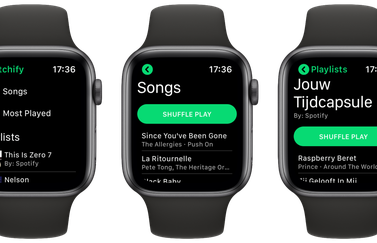 Watchify: Spotify op Apple Watch.