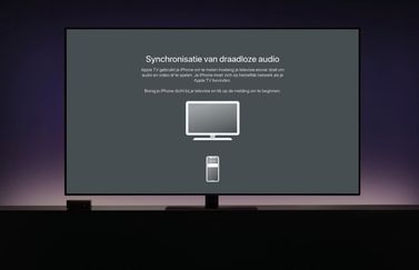 Apple TV draadloze audio synchronisatie.