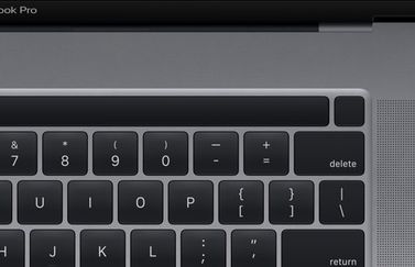 MacBook Pro 16-inch met Touch ID knop