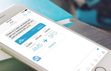 KLM chatbot in Facebook Messenger