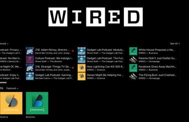 Wired Spoken Editions in iTunes