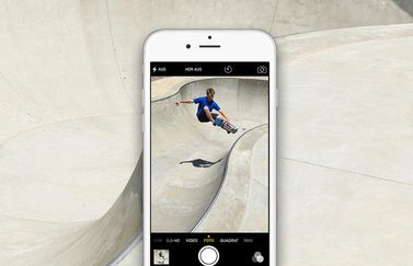 iPhone 6s skateboarder.