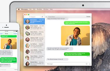 iMessage sms teksten uitwisselen Mac en iPhone