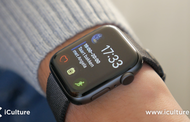 Apple Watch Series 4 met Infograaf modulair wijzerplaat.