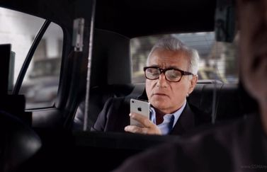 Scorsese in taxi voor iPhone-commercial