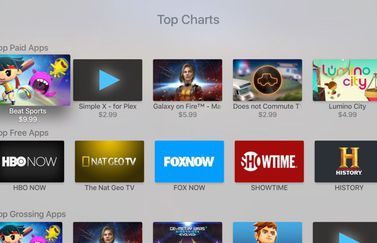 Toplijsten App Store op Apple TV