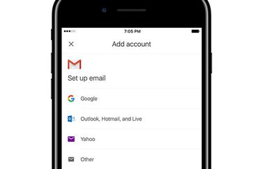 Gmail-app met overige accounts.