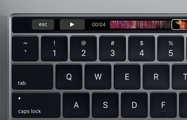 Escape-toets op Touch Bar.