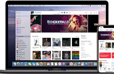 macOS Catalina Apple Music met iTunes Store.