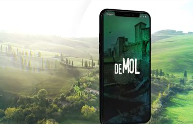 Wie is de Mol? 2020 jubileum app in Toscane.