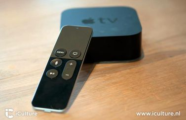 Apple TV 4 met afstandsbediening.