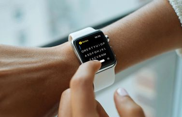 FlickType Notes op Apple Watch.