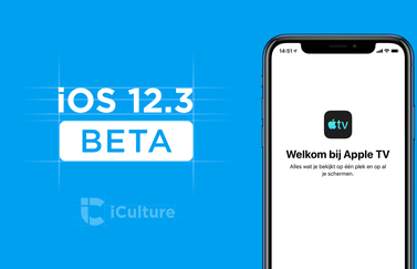 iOS 12.3 beta met TV-app.