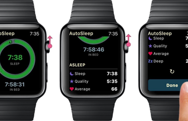 AutoSleep 5 op Apple Watch.