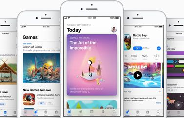 App Store met apps en games op iOS 11.