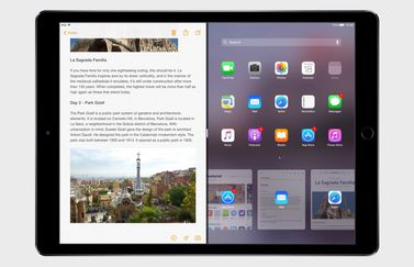iPad Pro met Split View in iOS 11-concept.