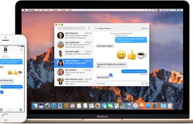 iMessage op de iPhone en Mac.