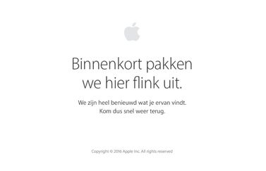 Apple Store offline voor iPhone 7-evenement.