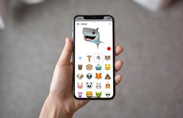 Animoji iOS 12.2 op iPhone.