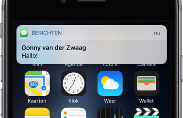 Pushnotificatie van iMessage.