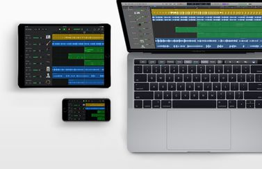 GarageBand op iPhone, iPad en Mac