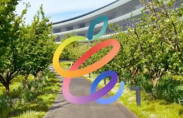Apple April 2021 uitnodiging in augmented reality in Apple Park.