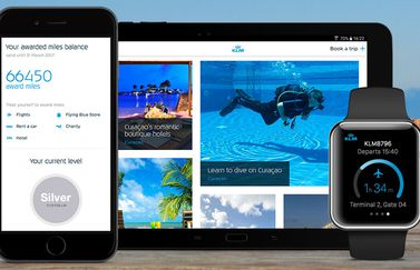 KLM-app op iPhone en Apple Watch
