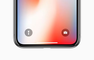 iPhone X zaklamp