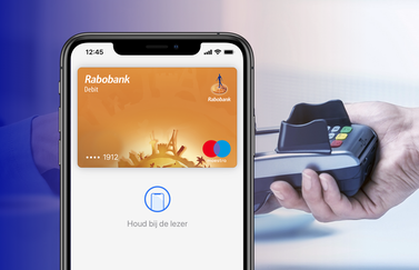 Rabobank kaart voor Apple Pay.