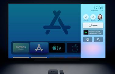 Apple TV Bedieningspaneel.