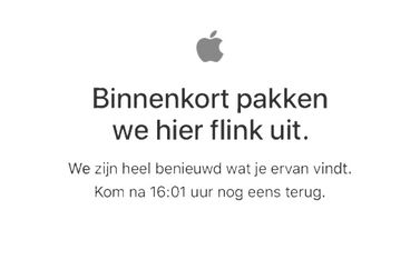 Apple Store offline voor rode iPhone 7 en nieuwe iPad.