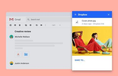 Dropbox voor Gmail add-on (2)
