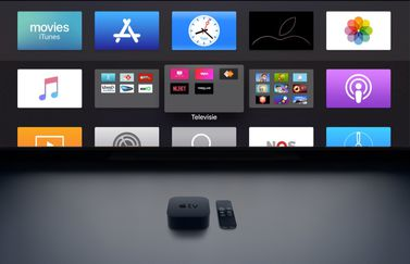 Apple TV-apps in mappen.