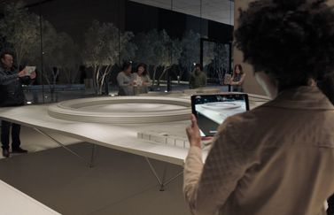 Apple Park in augmented reality