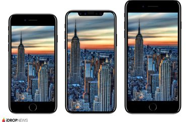 iPhone 8-renders vergeleken met iPhone 7.