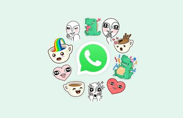 Stickers bij WhatsApp.